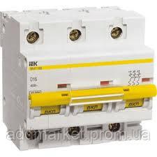 Автоматичний вимикач ВА 47-100 3Р 63А 10 кА х-ка С