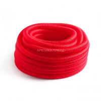 DKC Труба ПНД гибкая гофр. д.16мм, усиленная с протяжкой, красный. цвет 11516