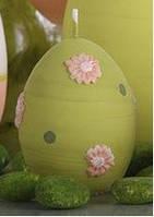 Свеча яйцо пасхальное 45х65 мм. Цвет оливковый. (1шт)
