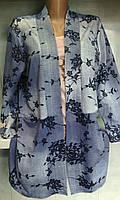 Пиджак женский джинсовый с карманами