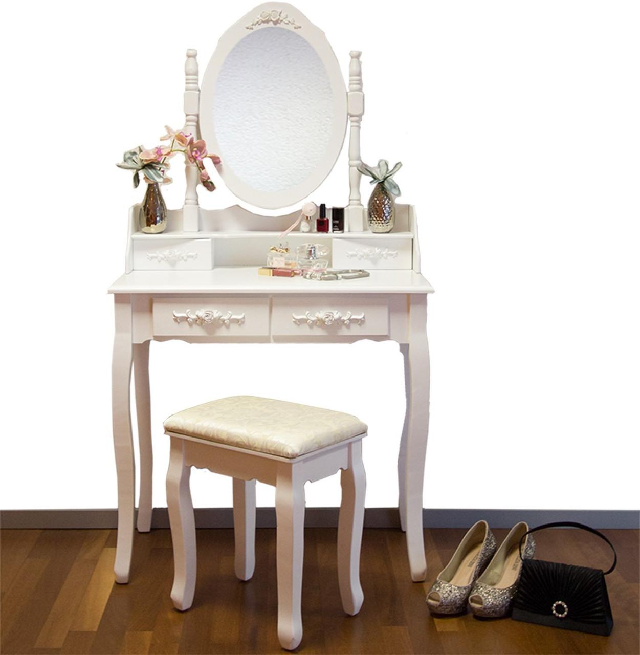 туалетный столик мирка белый с зеркалом цена 2 639 грн купить в