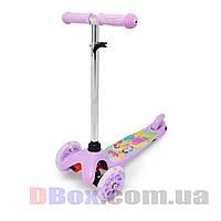 Самокат детский Scooter Mini Cartoon Princess с рисунком светящиеся колеса