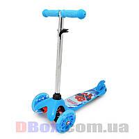 Самокат детский Scooter Mini Cartoon Spiderman с рисунком светящиеся колеса