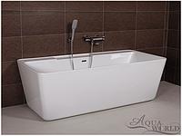 Ванна акриловая, пристенной установки Aqua-World AW527 с сифоном D-9 АВ527 белая