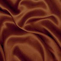 Ткань атлас - цвет шоколадно-коричневый