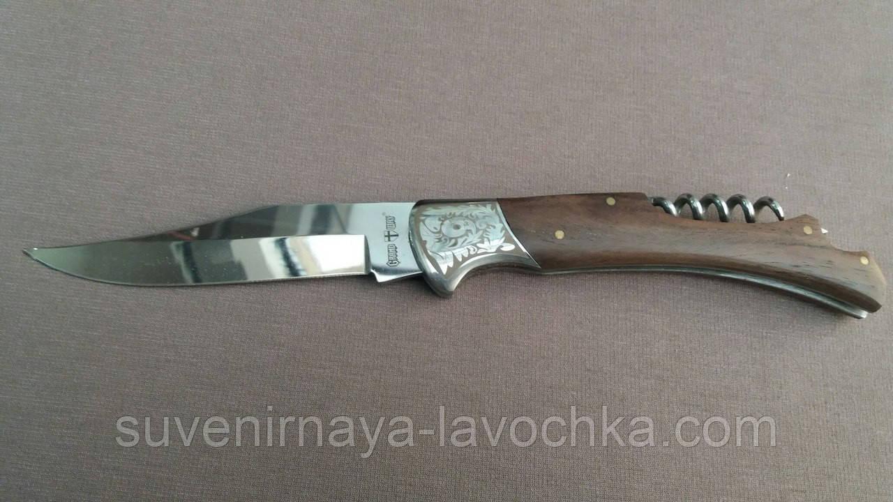Нож складной + штопор для Винна Классический
