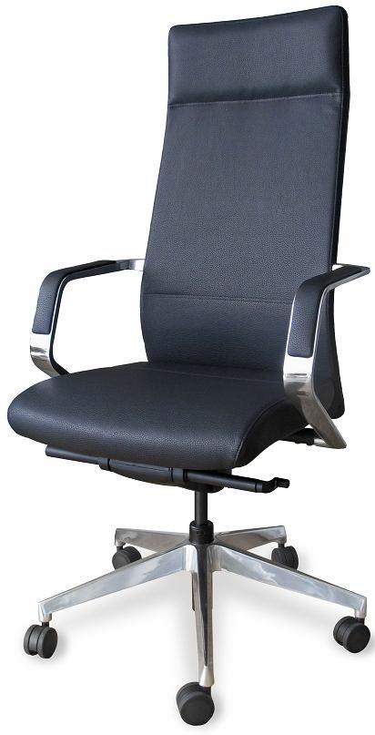 Крісло для керівника екологічна шкіра Enrandnepr СЕУЛ чорний
