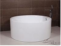 Ванна акриловая, островной установки с переливом Aqua-World AW502 с сифоном D-4 АВ502 белая