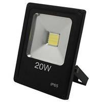 Светодиодный прожектор Feron LL-847 1LED 20W белый 6400K 230V (180*140*42mm) Черный  IP 65