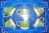 Набор кружек чайных Грань 250мл Зеленый ситец 15в84