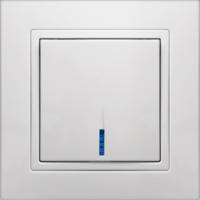 """Выключатель одноклавишный со светодиодной подсветкой Premium series """"ELEGANT"""""""