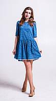Платье-туника с ассиметричным низом Т152д