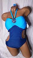 Купальник женский сдельный. Голубой. Polovi. 3016