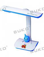 Настольная детская лампа WT025-11W G23 БЕЛЫЙ+СИНИЙ