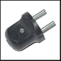 Вилка штепсельная универсальная полистирол черная 6А 250В