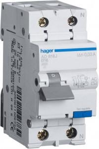 Диференційний автомат 1+N, 25 А Hager