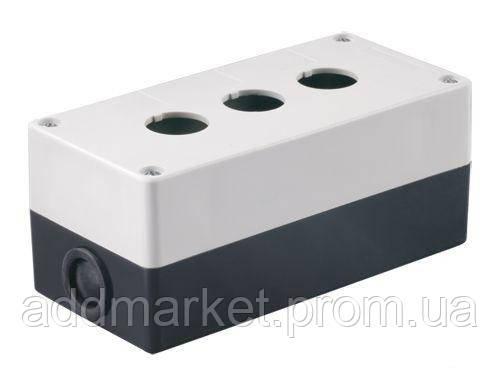 Корпус КП103 для кнопок 3 місця білий ИЭК