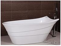 Отдельностоящая ванна с переливом Aqua-World AW493A с сифоном D-9 АВ493A белая