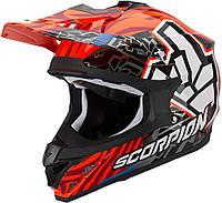 Шлем внедорожный Scorpion VX-15 EVO Air Rok Bagoros neon orange, L