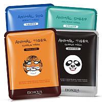 Тканевые маски BIOAQUA -  Animal (набор 4 шт.)