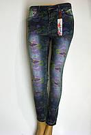 Жіночі джинси з принтом Vishe