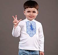 Трикотажна вишиванка для хлопчика на довгий рукав