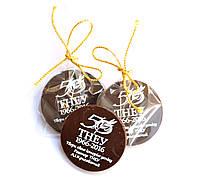 Шоколадки в подарок клиенту. Кружок 40мм, фото 1