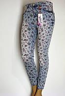 Жіночі літні джинси з принтом