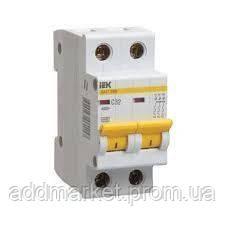 Автоматичний вимикач ВА47-29 2P  6А 4,5кА х-ка C IEK