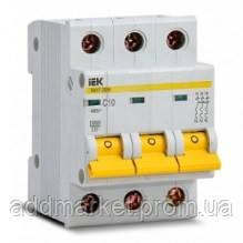 Автоматичний вимикач ВА47-29 3P 10A 4,5кА х-ка C IEK
