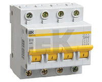 Автоматичний вимикач ВА47-29 4P 16A 4,5кА х-ка C IEK