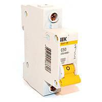 Автоматичний вимикач ВА47-29 1P 50A 4,5кА х-ка D IEK