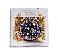 Логотип на шоколаде. Шоколадные медали в коробочках