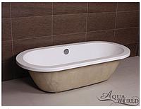 Ванна акриловая, врезная с переливом Аqua-World AW805-1 с сифоном D-4 АВ805-1 белая