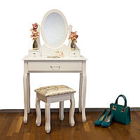 Туалетний столик Хелена белый с зеркалом
