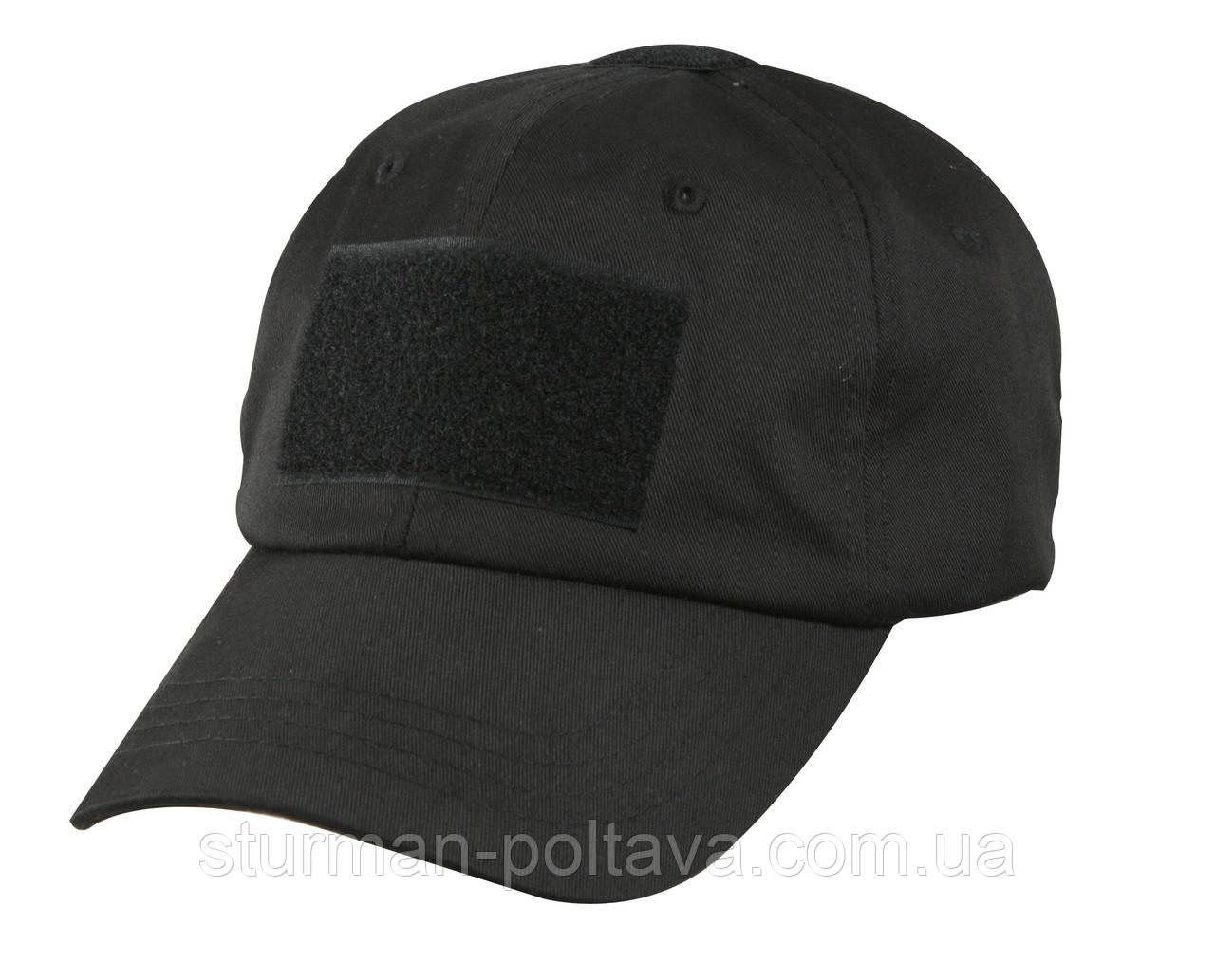 Бейсболка чоловіча тактична колір чорний Tactical Operator Cap Rotcho США