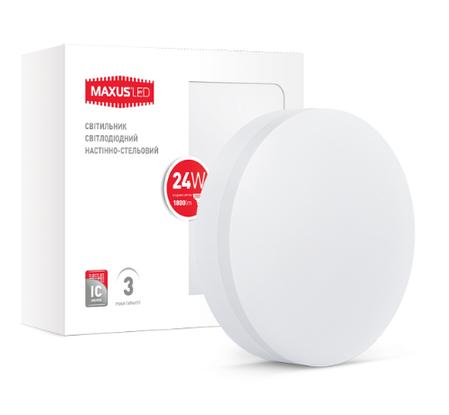 Светодиодный светильник MAXUS 24W нейтральный белый, фото 2