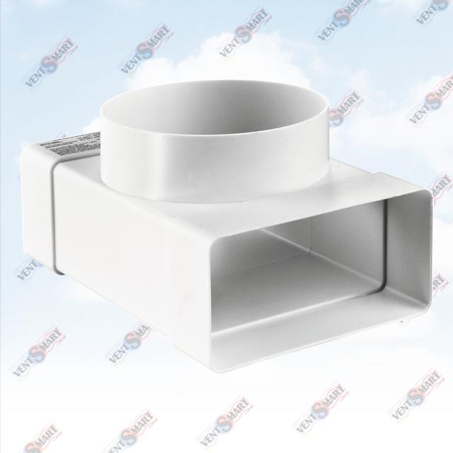 Внешний вид тройника для ппрямоугольных и круглых воздуховодов (пластиковых труб для вентиляции) ПЛАСТИВЕНТ производства ВЕНТС (Украина)