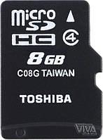 Карта памяти microSD Toshiba 8 GB class 4 M102 + Adapter