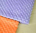 Отрез плюш minky М-32 морковного цвета 40*40 см, фото 3