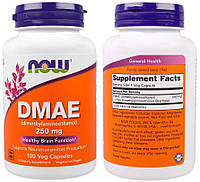 Now Foods, DMAE (ДМАЭ), 250 мг, 100 капсул