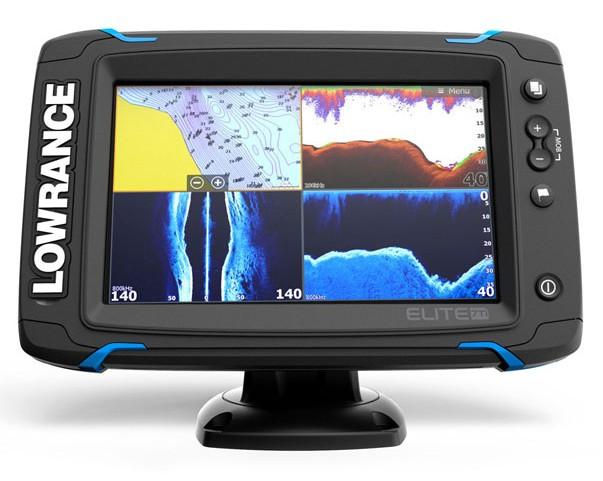 Lowrance Elite-7Ti - эхолот с GPS для рыбалки Лоуренс Элит 7 с сенсорным экраном