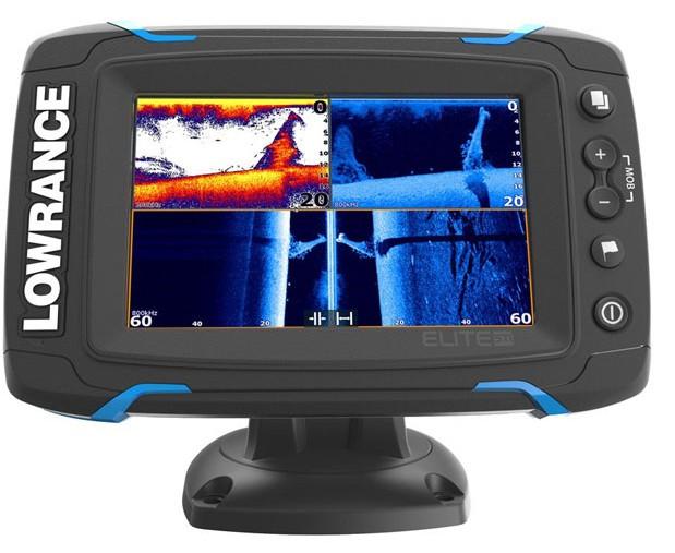 Lowrance Elite-5Ti - эхолот с GPS для рыбалки Лоуренс Элит 5 с сенсорным экраном