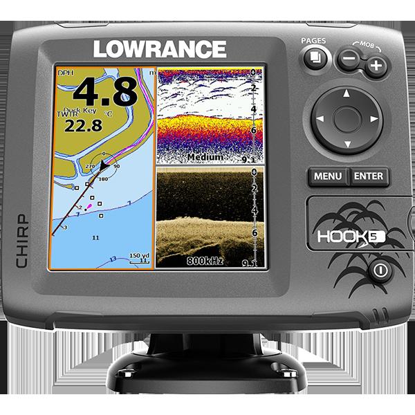 Lowrance Hook5 - эхолот с GPS для рыбалки Лоуренс Хук 5