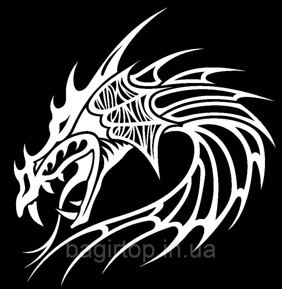 Виниловая наклейка -Дракон(44) (от 20х20 см)