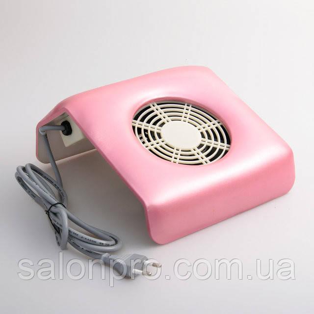 Настольная маникюрная вытяжка (пылесос), мини, розовая