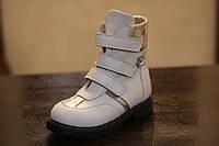 Кожанные ортопедические ботинки фирмы Екоби
