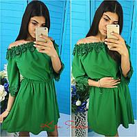 Платье с ажурным кружевом