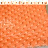 Отрез плюш minky М-32 морковного цвета 40*40 см, фото 2