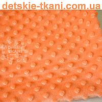 Плюш minky 160 см морковного цвета